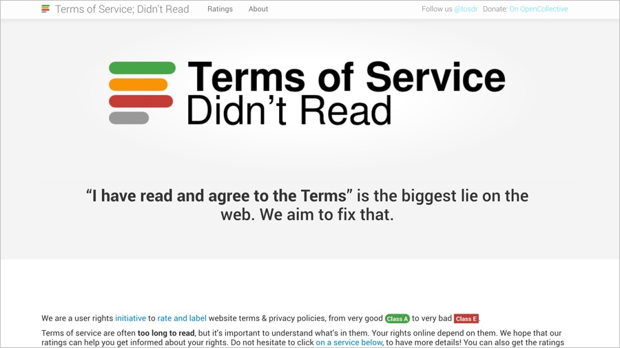 Terms of Service; Didn't Read